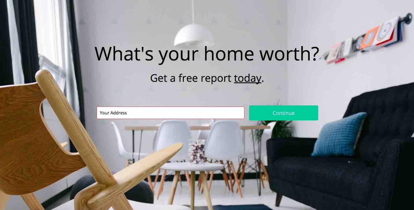 Real Estate Landing Page - Home Worth